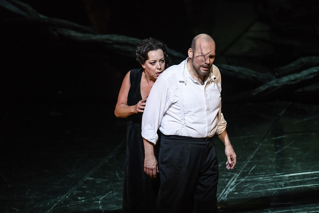 John Lundgren as Wotan and Nina Stemme as Brünnhilde in Die Walküre, The Royal Opera ©2018 ROH. Photograph by Bill Cooper