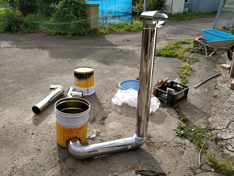ビニールハウス用のストーブを作る (23)