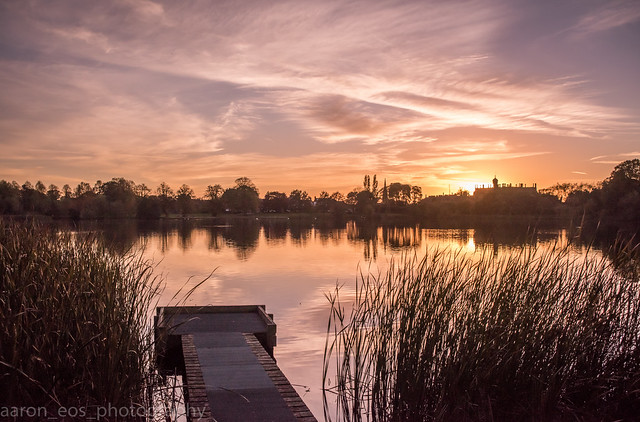 October Sunset Park Lake