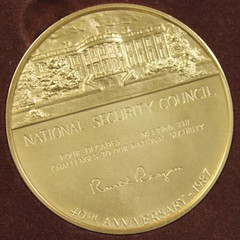 1987 National Security Council medal reverse