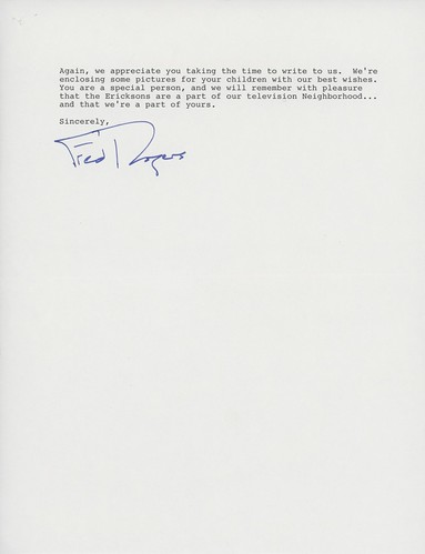 Laura's Letter from Mr. Rogers, Page 2