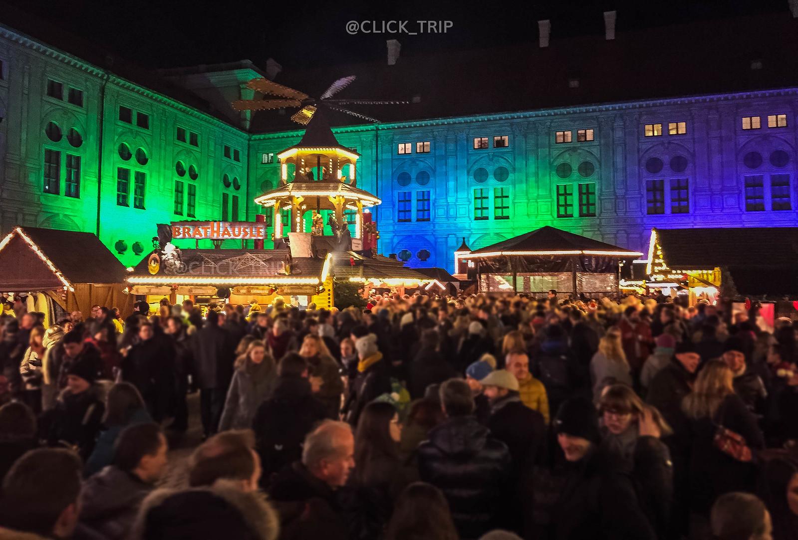 · Residenz · Mercadillo navidad · Múnich ·