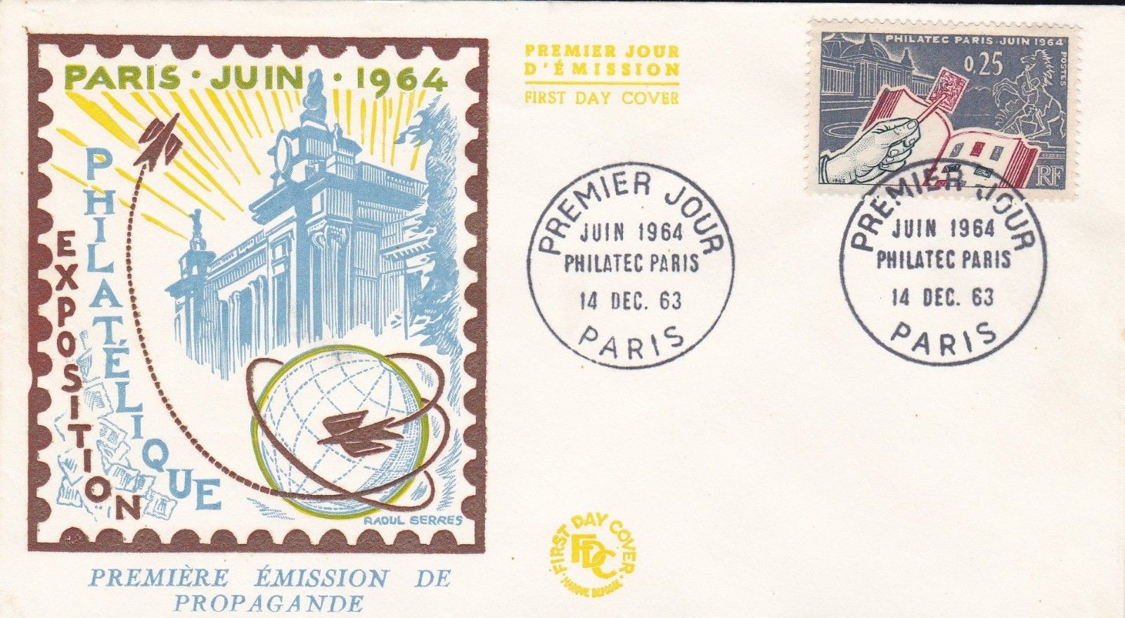 France - Scott #1078 (1963) first day cover