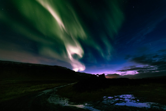 Aurora gazing in Hvalfjörður