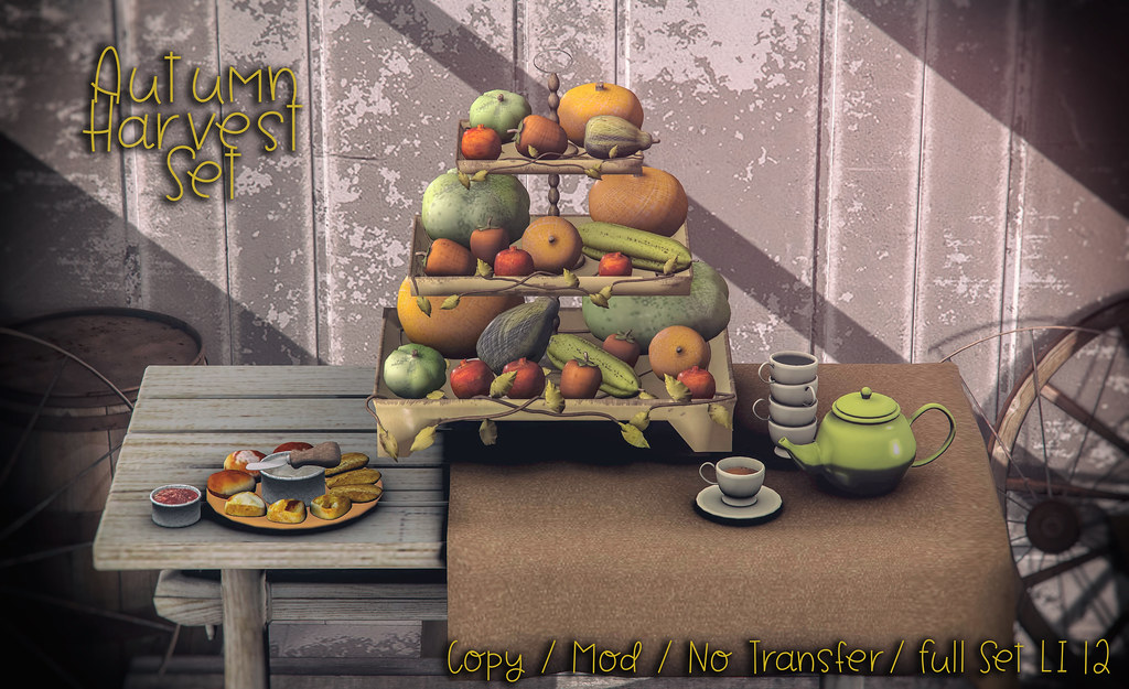 crate's Autumn Harvest Table Set Exclusive or Shiny Shabby - TeleportHub.com Live!