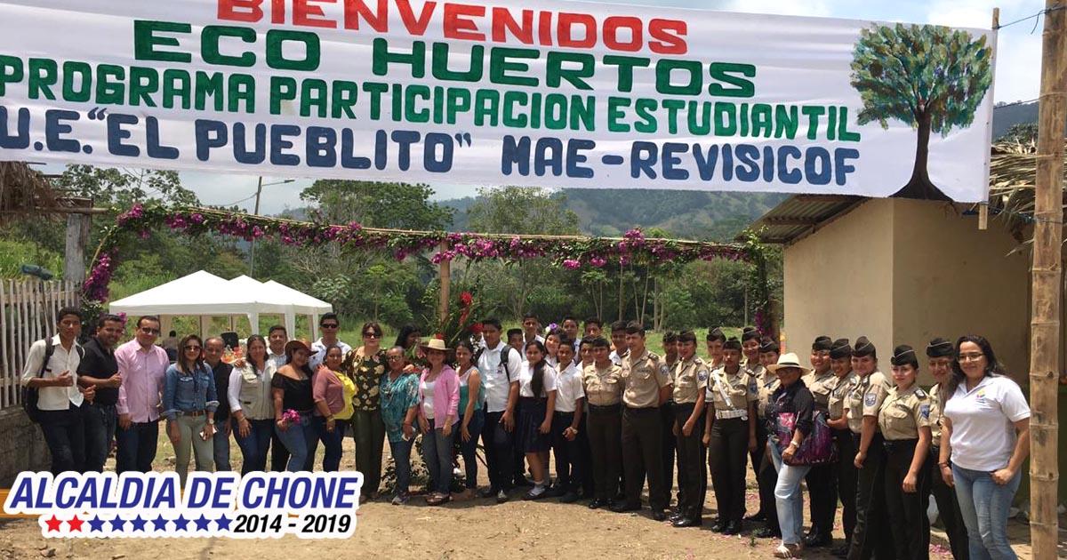 Actividad ecológica en Unidades Educativas de Chone