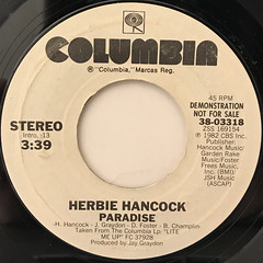 HERBIE HANCOCK:PARADISE(LABEL SIDE-A)