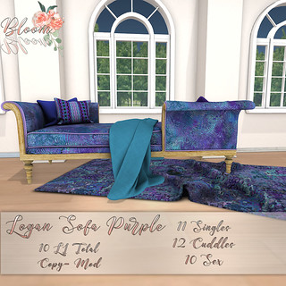 Bloom! - Logan Sofa PurpleAD