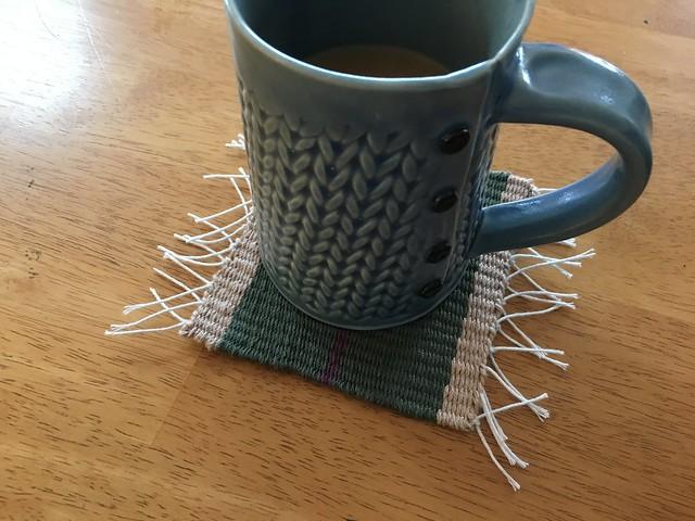 Woven mug rug
