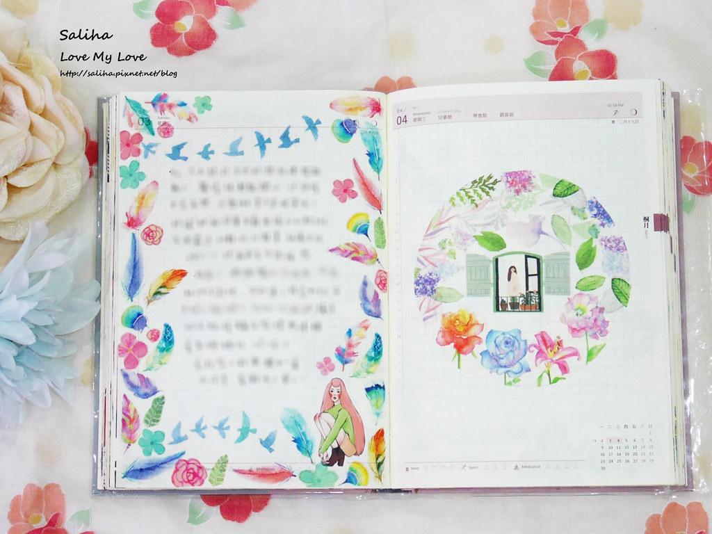 開花生活實驗室往世書手帳裝飾心得分享紙膠帶應用彩繪花環 (2)