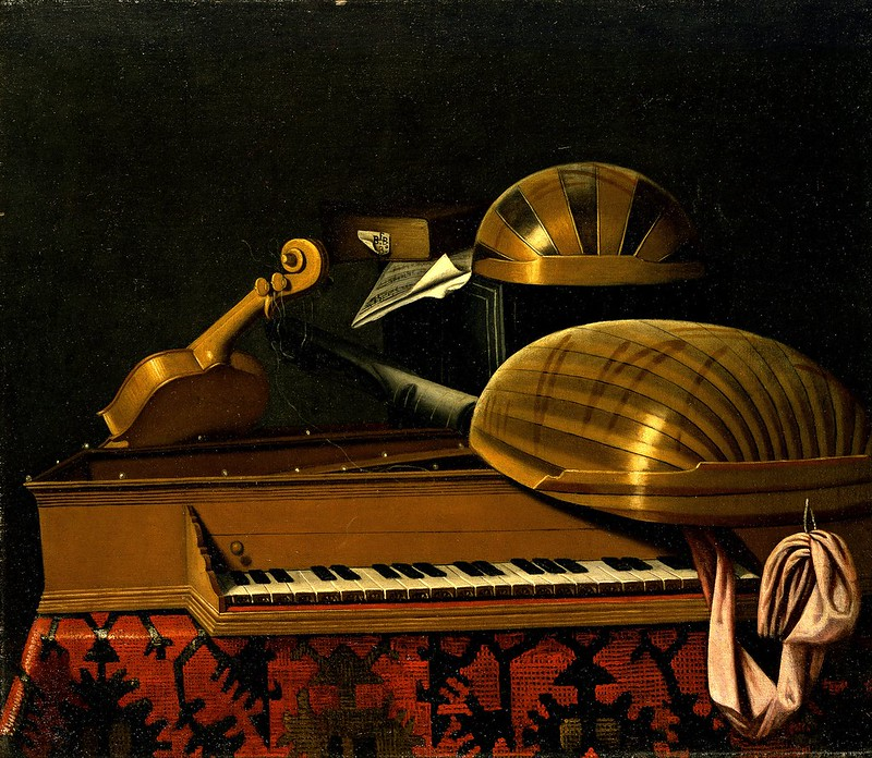 Bartholomeo Bettera - Still Life with Musical Instruments and Books