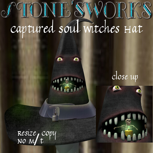 Captured Soul Witches Hat Stone's Works - TeleportHub.com Live!