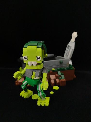 Cutie zombie. Happy Halloween 😆😆 #legomoc #legophotography #legocreation #legolife #legobuilder #lego #Halloween #zombie