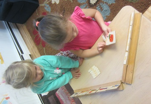 wooden word card word matching