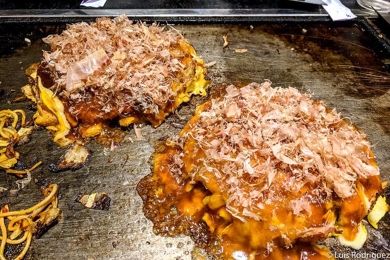Okonomiyaki de Ajinoya, okonomiyaki en Osaka