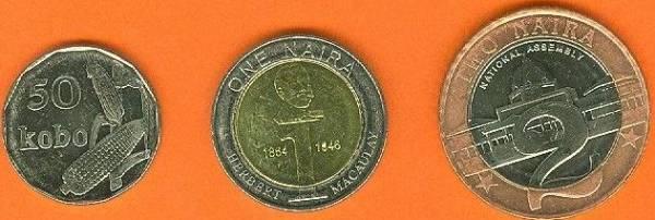 Nigéria 50 Kobo + 1-2 Naira 2006