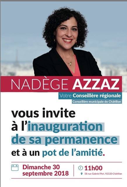 Inauguration de la permanence de Nadège AZZAZ à Châtillon