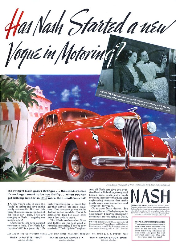 1937 Nash, Ambassador Six 4-Door Sedan
