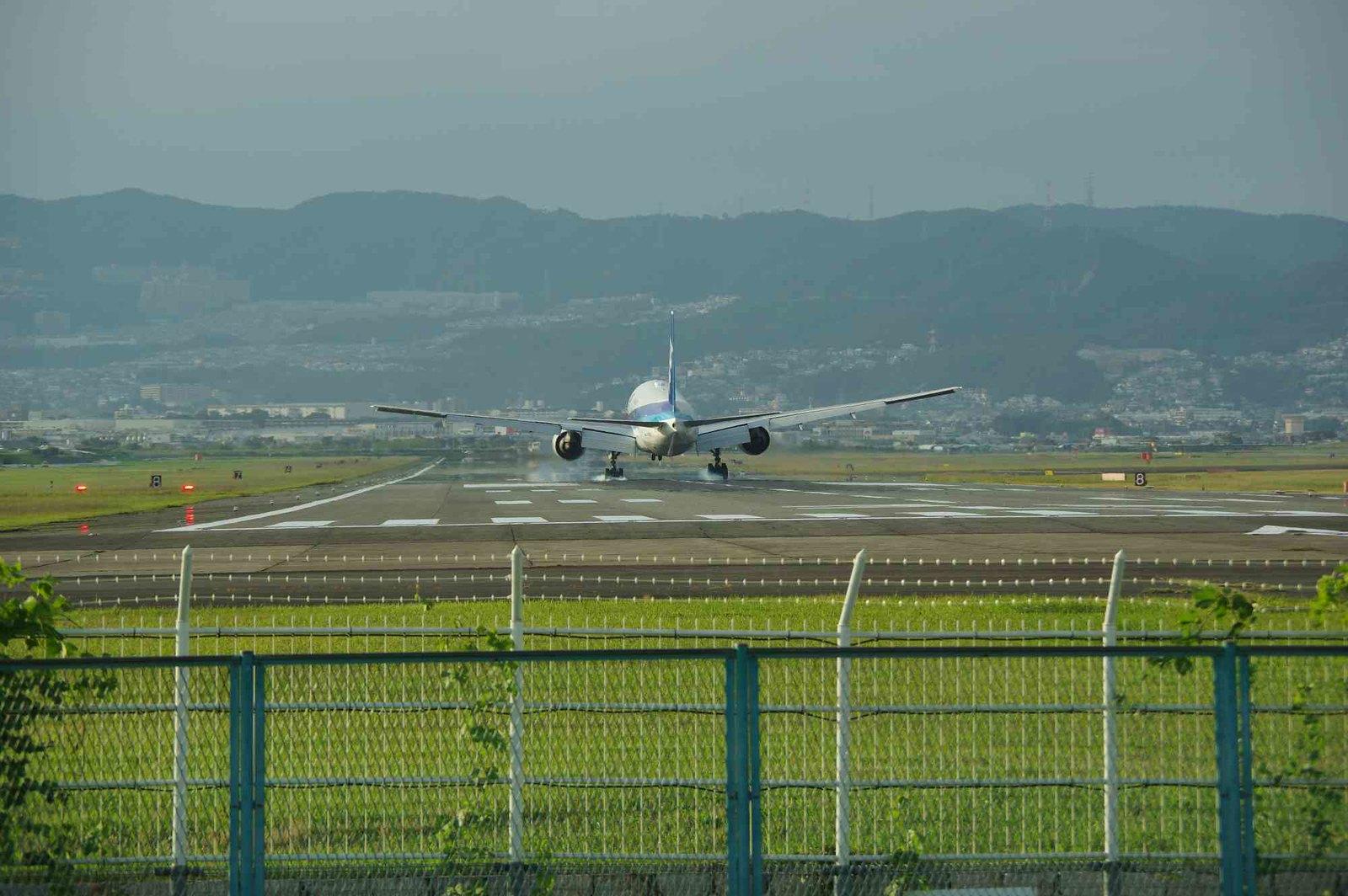 伊丹空港千里川土手にて 8