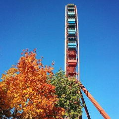 They look like little balconies on a very thin building #ferriswheel #spreepark