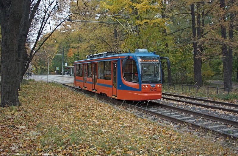 Трамвай УКВЗ 71-623-02 №2640, Измайловский проспект.
