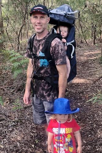Luke Weaver and his two children Zoe and Jasper October 2018