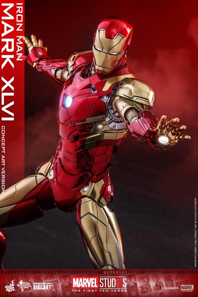 Hot Toys - MMS489D25 - Marvel Studios 十週年【鋼鐵人馬克46 (概念藝術版)】Iron Man Mark XLVI (Concept Art Version) 1/6 比例合金人偶作品