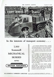 In the interests of transport economy; advert issued by Scammell Lorries Ltd,