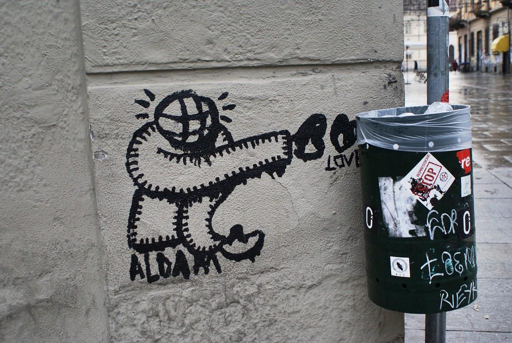 Street art dans le quartier de Vanchiglia à Turin