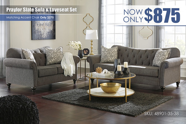 Praylor Slate Sofa & Loveseat Set_48901-38-35-T294