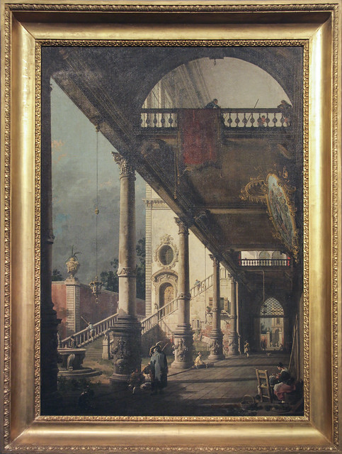Perspective with portico (1765), Canaletto e Bottega,