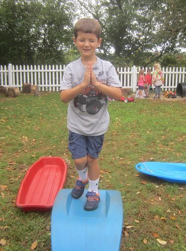 the balancing yoga man