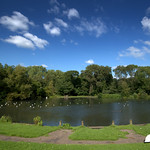 The lake at Haslam Park, Preston