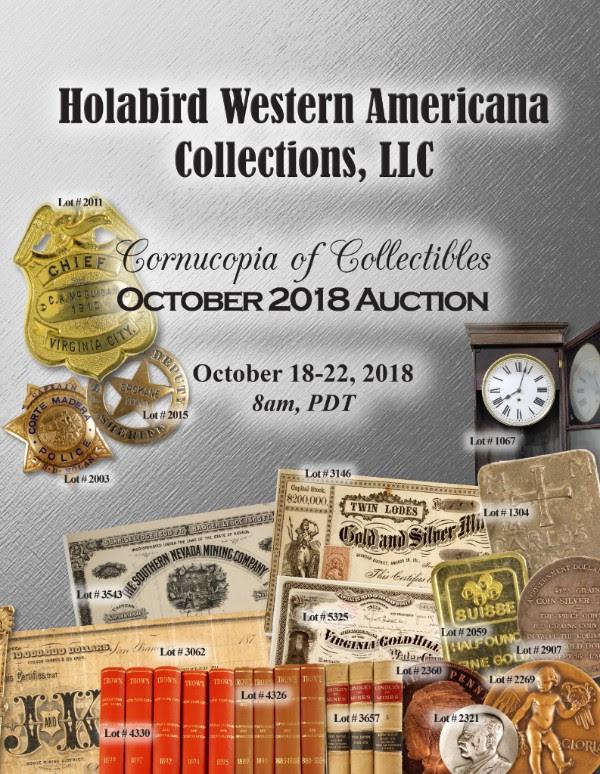 Holabird E-Sylum ad 2018-09-30 October 2018 sale