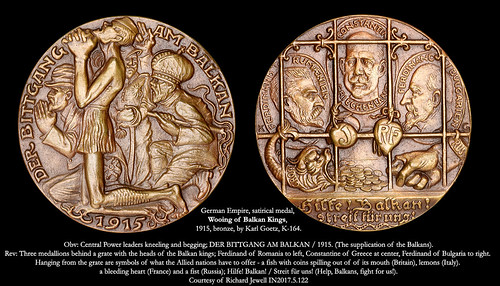 Wooing of Balkan Kings satirical medal