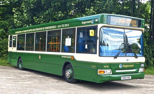 YN05 XNZ ' Yorkshire Traction' No. 34720, 'Chesterfield Transport'. Dennis Dart SLF / Plaxton Pointer 2 /2 on Dennis Basford's railsroadsrunways.blogspot.co.uk'