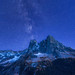 Milky Way over Liberty Bell Mountain. by Sveta Imnadze