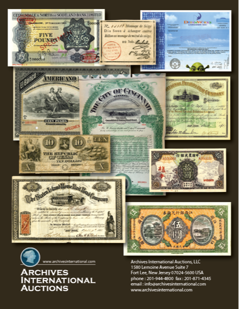 Archives International 2018-11 sale cover back