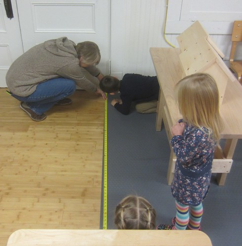 measuring the woodworking & painting mat