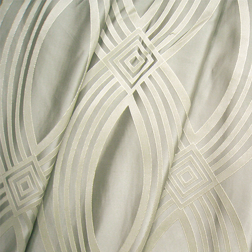 灰色水波 X線條 緹花無接縫窗簾布 DA2790003U