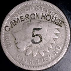 Cameron House 5 1860 1c ob