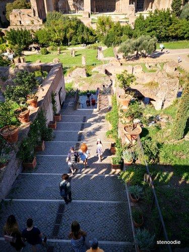 Roman Forum steps to building