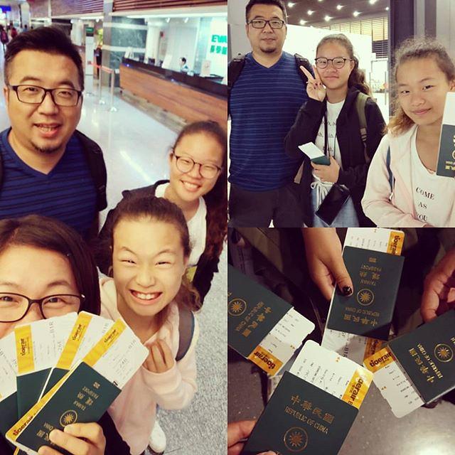 20181103 第一次全家一起出國 樣樣都新鮮 孩子們嗨爆了 #一家子的旅行 #一家子搭飛機 #雖然我們明天就回來了