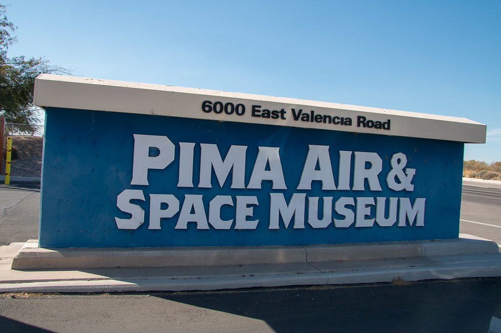 Sign at entrance to Pima Air and Space Museum