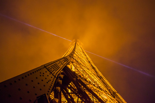 Eiffel Tower Looking Up