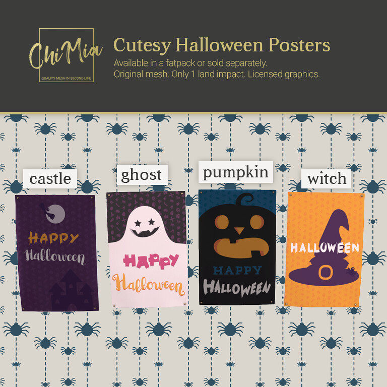 Cutesy Halloween Posters by ChiMia