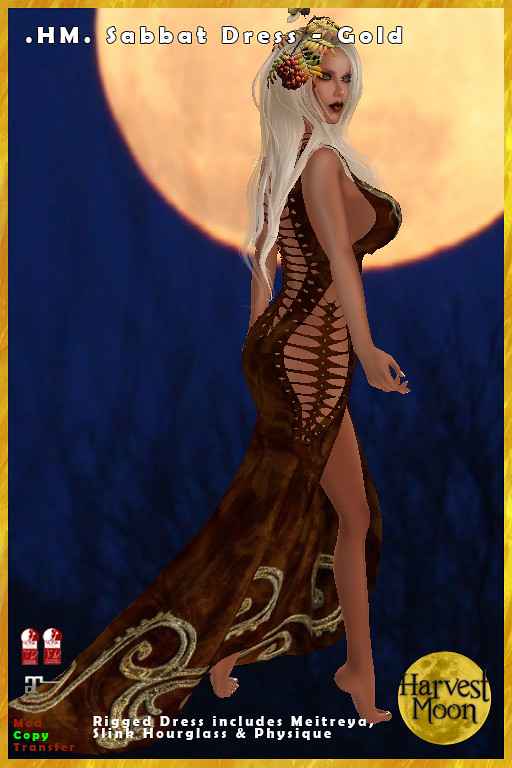 Harvest Moon - Sabbat Dress - Gold - TeleportHub.com Live!