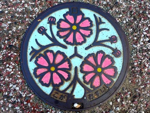 Koga Fukuoka, manhole cover 2 (福岡県古賀市のマンホール2)