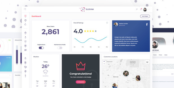 Elisyam v1.5.2 – Web App and Admin Dashboard Template