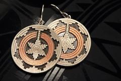 Navajo Wedding Basket Earrings